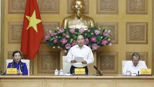 Tiến tới Đại hội XIII của Đảng: Thủ tướng Nguyễn Xuân Phúc chủ trì Phiên họp Tiểu ban Kinh tế - Xã hội Đại hội lần thứ XIII của Đảng - Sputnik Việt Nam