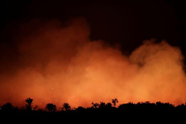 Khói từ đám cháy rừng Amazon - Sputnik Việt Nam