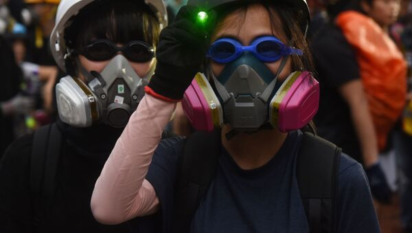 Сuộc biểu tình ở Hồng Kông  - Sputnik Việt Nam