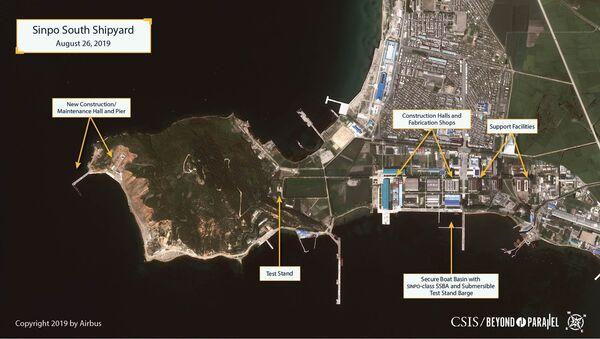 Hoa Kỳ tìm ra bằng chứng cho thấy Triều Tiên phát triển tàu ngầm với tên lửa đạn đạo - Sputnik Việt Nam