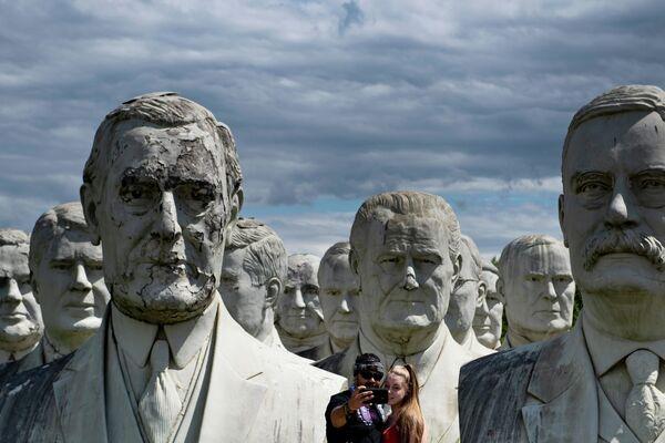 Tượng bán thân của các cựu Tổng thống Hoa Kỳ tại Williamsburg - Sputnik Việt Nam