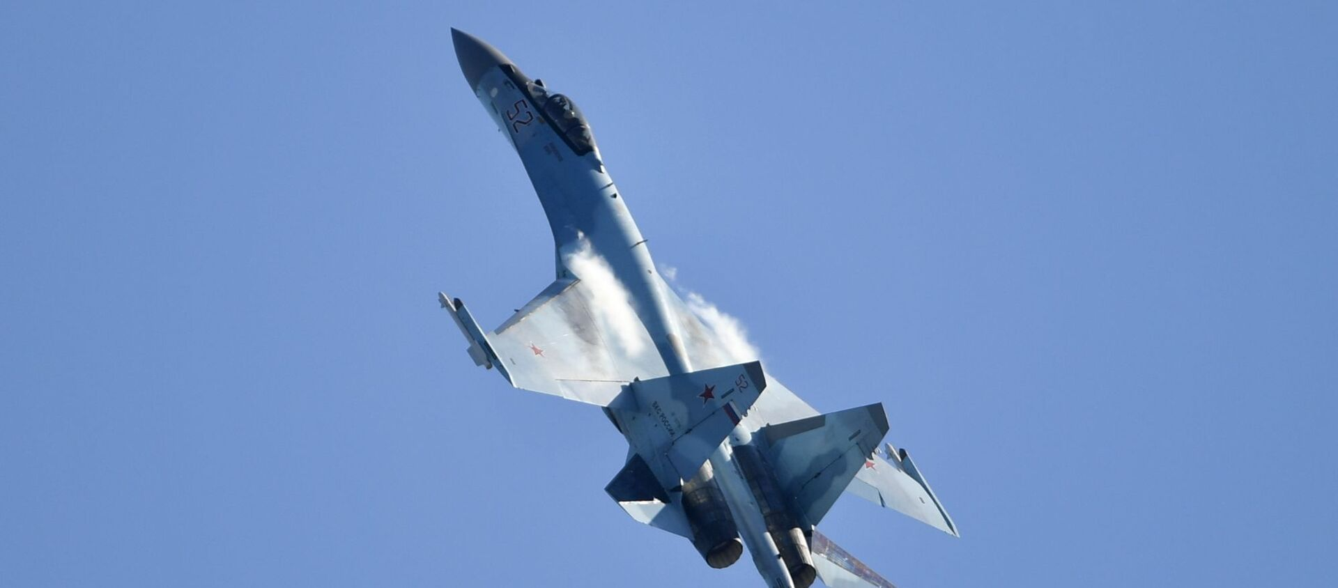 Máy bay chiến đấu đa năng Su-35 của Nga tại Triển lãm Hàng không và Vũ trụ Quốc tế MAKS-2019 - Sputnik Việt Nam, 1920, 05.10.2019