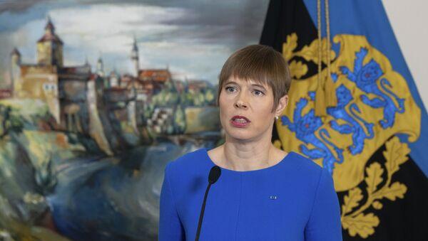 Tổng thống Estonia Kersti Kaljulaid - Sputnik Việt Nam