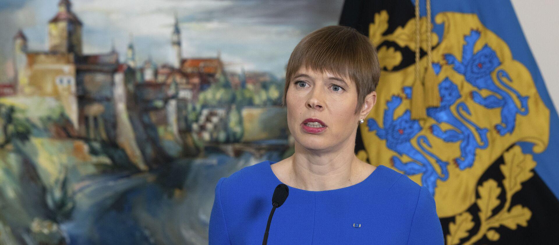 Tổng thống Estonia Kersti Kaljulaid - Sputnik Việt Nam, 1920, 30.08.2021