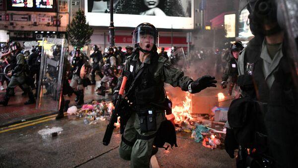 Trong cuộc biểu tình ở Hồng Kông - Sputnik Việt Nam