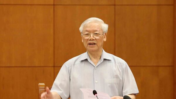 Tổng Bí thư, Chủ tịch nước Nguyễn Phú Trọng phát biểu kết luận cuộc họp.  - Sputnik Việt Nam