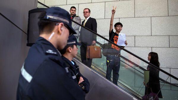 Nhà hoạt động chính trị, lãnh đạo đảng Demosisto Joshua Wong - Sputnik Việt Nam