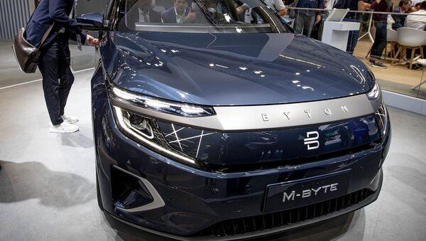 Nhà sản xuất ô tô Trung Quốc Byton đã trình diễn mô hình xe sản xuất hàng loạt của mình, được gọi là M-Byte - Sputnik Việt Nam
