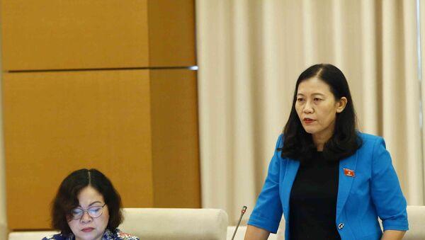 Chủ nhiệm Ủy ban Tư pháp của Quốc hội Lê Thị Nga phát biểu.  - Sputnik Việt Nam