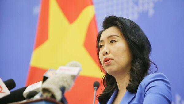 Người phát ngôn Bộ Ngoại giao Lê Thị Thu Hằng thông báo một số hoạt động đối ngoại. - Sputnik Việt Nam