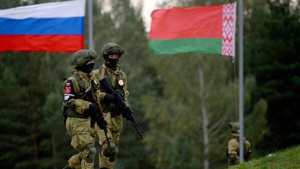 Tập trận chung Nga-Belarus Zapad-2017 trên thao trường Osipovichsky ở vùng Mogilevskiy - Sputnik Việt Nam