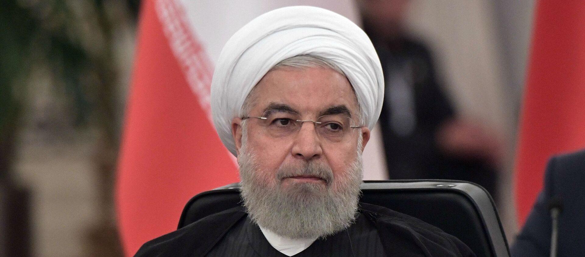 Tổng thống Iran Hassan Rouhani tại Hội nghị thượng đỉnh Nga-Thổ Nhĩ Kỳ-Iran về Syria ở Ankara - Sputnik Việt Nam, 1920, 14.12.2020