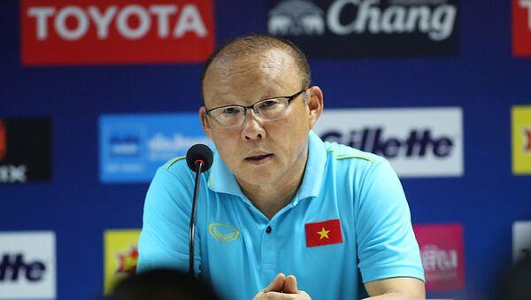 HLV Park Hang Seo họp báo sau trận đấu.  - Sputnik Việt Nam