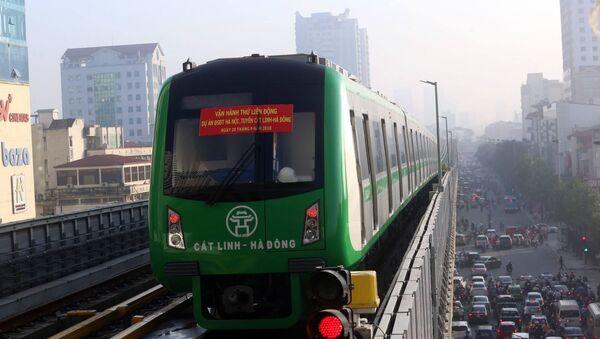 Vận hành thử liên động tàu đường sắt Cát Linh - Hà Đông. - Sputnik Việt Nam