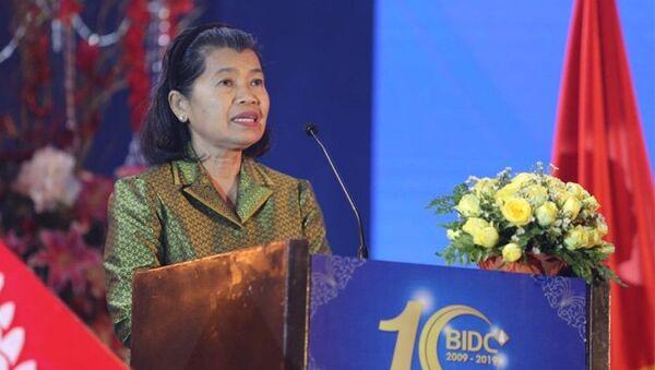 Phó Thủ tướng Campuchia Men Sam An phát biểu ý kiến - Sputnik Việt Nam