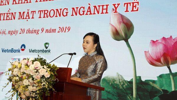 Bộ trưởng Bộ Y tế Nguyễn Thị Kim Tiến phát biểu. - Sputnik Việt Nam