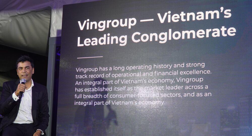 Phó TGĐ của VINGROUP Mantosh Malhotra giới thiệu về Tập đoàn VINGROUP tại Nga.