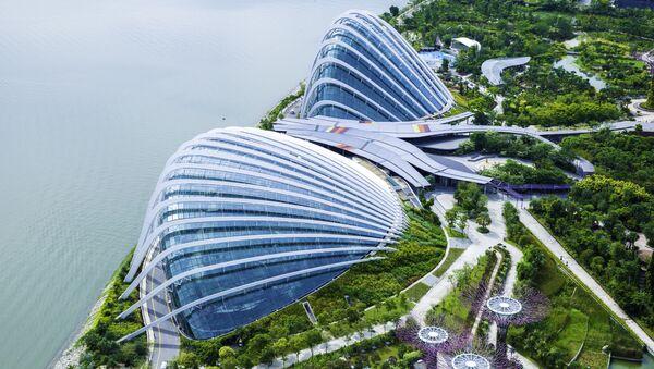 Phong cảnh Singapore nhìn tầm cao chim bay - Sputnik Việt Nam