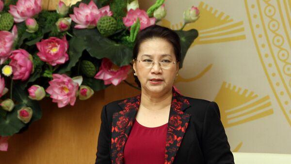 Chủ tịch Quốc hội Nguyễn Thị Kim Ngân phát biểu tại Hội nghị.  - Sputnik Việt Nam