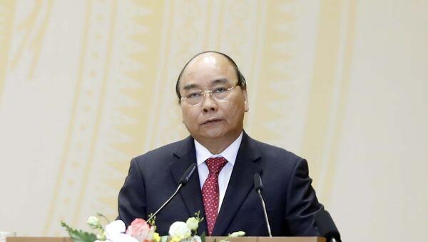 Thủ tướng Nguyễn Xuân Phúc phát biểu tại hội nghị. - Sputnik Việt Nam