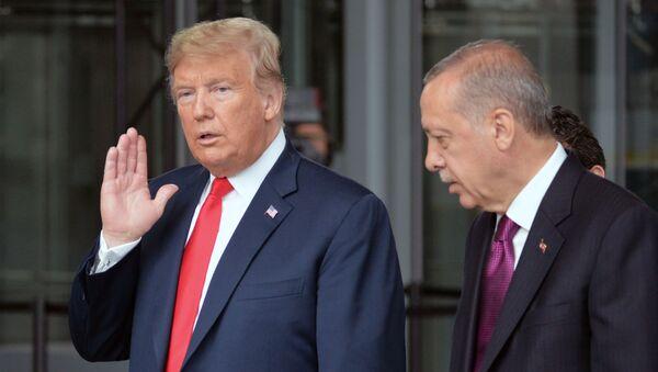Tổng thống Hoa Kỳ Donald Trump và Tổng thống Thổ Nhĩ Kỳ Recep Erdogan. - Sputnik Việt Nam