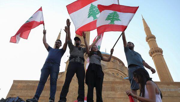 Cuộc biểu tình chống đối ở Lebanon. - Sputnik Việt Nam