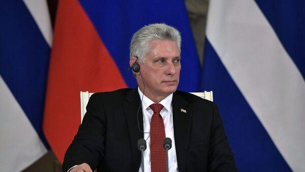 Chủ tịch Cuba Miguel Diaz-Canel Bermudez  - Sputnik Việt Nam