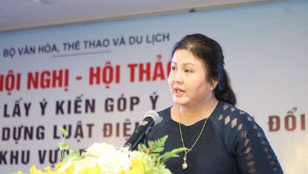 Bà Nguyễn Thu Hà – Q. Cục trưởng Cục Điện ảnh đang bị tố cáo về vi phạm trong quá trình bổ nhiệm và quản lý - Sputnik Việt Nam