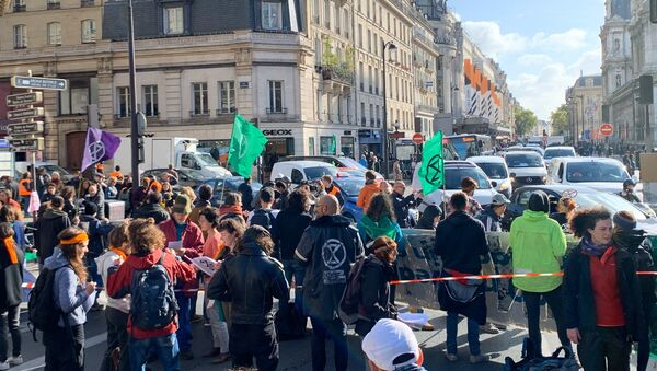 Hành động nổi loạn tuyệt chủng ở Paris, ngày 10 tháng 10 năm 2019 - Sputnik Việt Nam