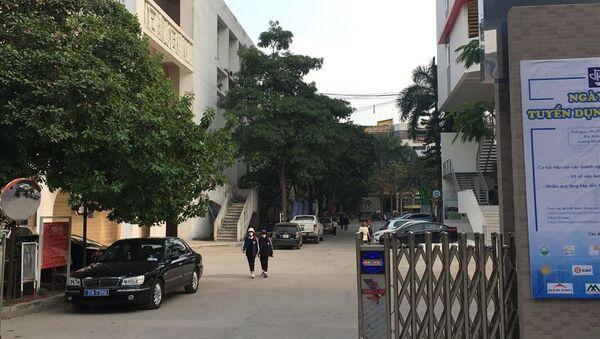 Trường Đại học Kiến trúc - nơi xảy ra sự việc nam sinh rơi từ tầng 13 tử vong. - Sputnik Việt Nam