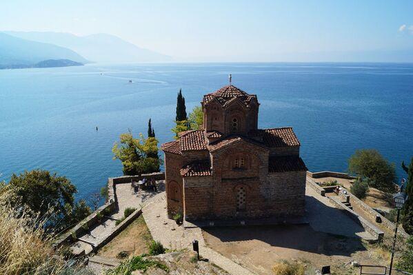 Quang cảnh hồ Ohrid ở Bắc Macedonia - Sputnik Việt Nam