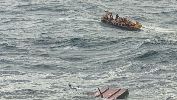 Cháy tàu cá ở Jeju - Sputnik Việt Nam