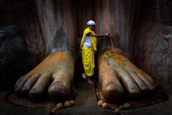 Bức ảnh Đền Shravanabelagola của Vinod Kumar Kulkarni, người vào chung kết Historic Photographer of the Year 2019 - Sputnik Việt Nam