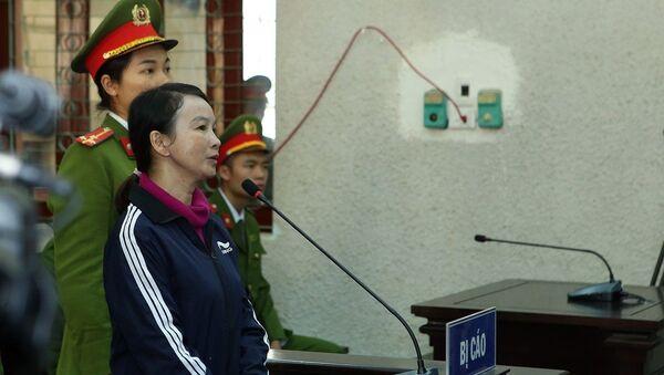 Bị cáo Trần Thị Hiền tại phiên tòa. - Sputnik Việt Nam