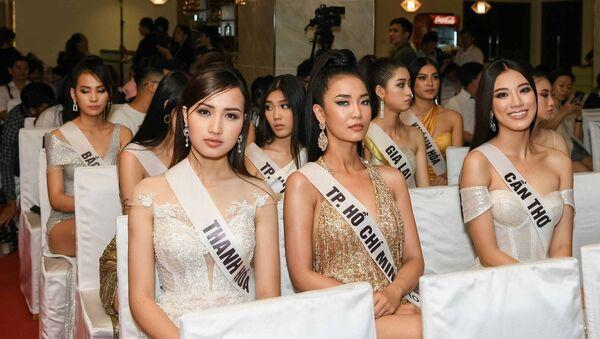 Dàn thí sinh Hoa hậu Hoàn vũ Việt Nam  - Sputnik Việt Nam