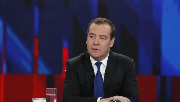 Cuộc phỏng vấn của Thủ tướng Liên bang Nga D. Medvedev với các kênh truyền hình Nga - Sputnik Việt Nam