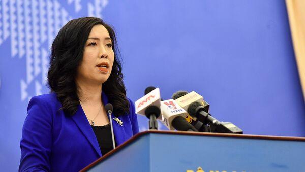 Người Phát ngôn Bộ Ngoại giao Lê Thị Thu Hằng thông báo một số hoạt động đối ngoại của Việt Nam - Sputnik Việt Nam