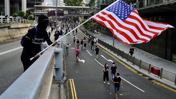 Người biểu tình cờ Hồng Kông - Sputnik Việt Nam