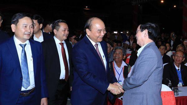 Thủ tướng Nguyễn Xuân Phúc và các đại biểu tham dự lễ kỷ niệm - Sputnik Việt Nam
