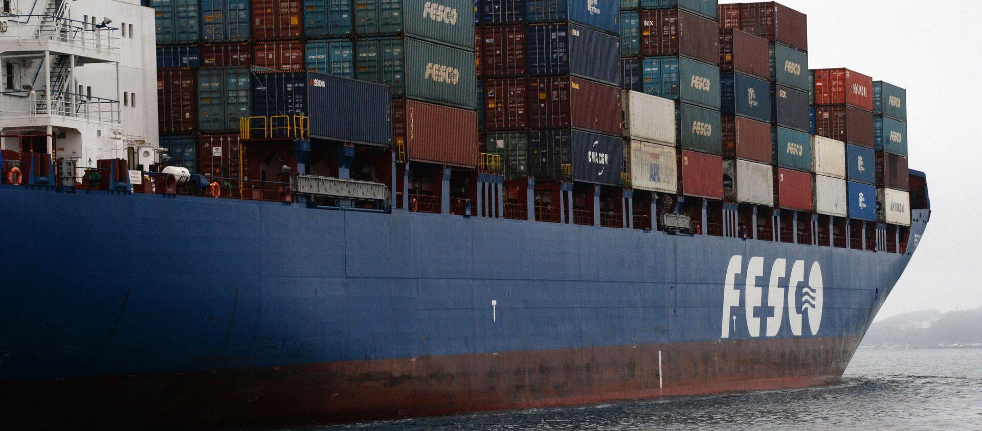 Tàu container Fesco Diomid cập cảng Vladivostok - Sputnik Việt Nam, 1920, 16.12.2019