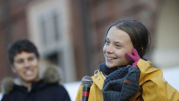 Nhà hoạt động môi trường Thụy Điển Greta Thunberg - Sputnik Việt Nam