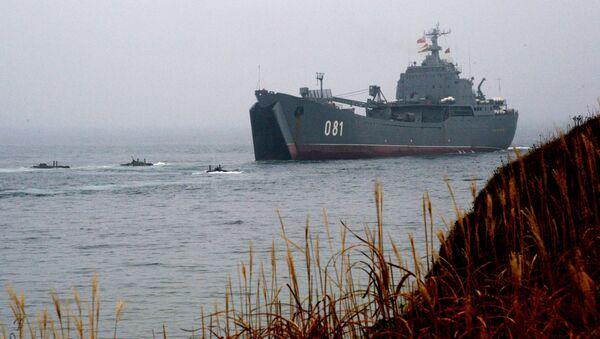 Lực lượng lính thủy đánh bộ Hạm đội Thái Bình Dương tập trận ở khu vực Primorsky - Sputnik Việt Nam
