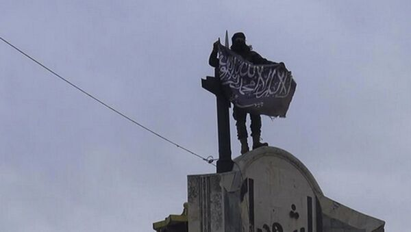 Chiến binh Dzhabhat en Nusra ở  Syria - Sputnik Việt Nam
