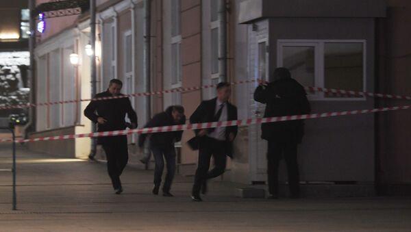 Vụ nổ súng trên đường Bolshaya Lubyanka ở trung tâm Moskva, gần tòa nhà FSB - Sputnik Việt Nam