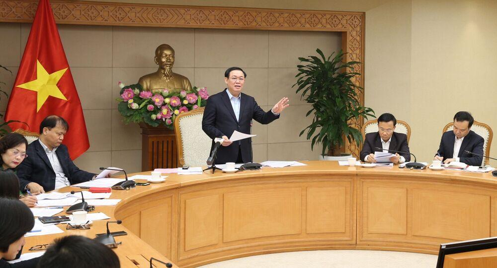 Phó Thủ tướng Vương Đình Huệ, Trưởng Ban Chỉ đạo điều hành giá chỉ đạo cuộc họp.