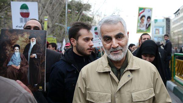 Tướng Qasem Soleimani, người đứng đầu lực lượng đặc biệt Quds của Quân đoàn Vệ binh Cách mạng Hồi giáo (thành phần của lực lượng vũ trang Iran). - Sputnik Việt Nam