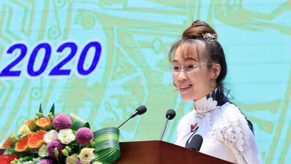Bà Nguyễn Thị Phương Thảo, Phó Chủ tịch thường trực HĐQT HDBank phát biểu - Sputnik Việt Nam