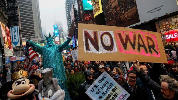 Cuộc biểu tình phản chiến ở New York - Sputnik Việt Nam