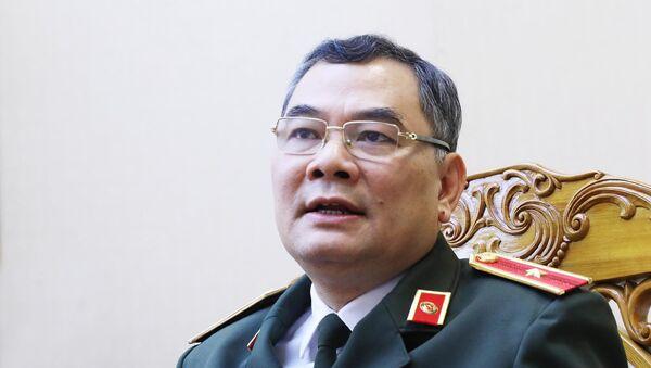 Thiếu tướng Tô Ân Xô, Chánh Văn phòng, Người Phát ngôn Bộ Công an trả lời phỏng vấn về vụ gây rối trật tự công cộng tại xã Đồng Tâm - Sputnik Việt Nam