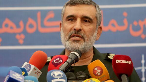 Chỉ huy lực lượng Không quân-Vũ trụ thuộc Khối Vệ binh Cách mạng Hồi  giáo (IRGC) Amir Ali Hajizade. - Sputnik Việt Nam